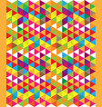 abstract colorful geometric shapes vector image