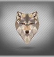 animal in style origami low poly vector image
