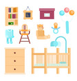 baby room concept vector image vector image