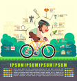 Benefits of cycling bicycle Bicycle infographics vector image vector image