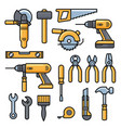 building and repair tools icons construction vector image vector image