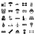 burden icons set simple style vector image vector image