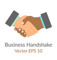 business handshake handdrawn simple flat icon vector image vector image