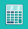 calculator icon calculate finance with modern vector image vector image
