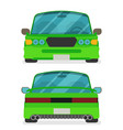 car front and rear flat vector image vector image
