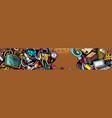 cartoon cute colorful hand drawn doodles school vector image vector image