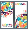 Celebration vertical banners with carnival icons vector image
