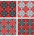 checkered patterns set vector image vector image