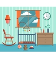 child room for newborn baflat vector image