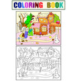 childlike color story scene with pair of vector image vector image