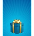 christmas present box vector image vector image
