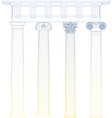 classic columns vector image vector image