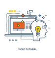 concept of education and video tutorial vector image