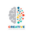 creative idea - business logo template vector image vector image