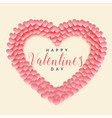 creative papercut heart shape valentines day vector image