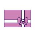 cute purple gift cartoon vector image vector image
