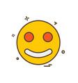 emoji icon design vector image vector image
