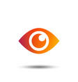 eye sign icon publish content button vector image vector image