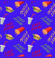 fast food seamless pattern with sandwiches french vector image vector image