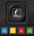 fishing icon symbol Set of five colorful stylish vector image