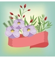 flowers isolated vector image vector image