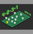 football 4-2-3-1 formation with isometric field