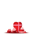 gift box love vector image vector image