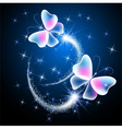 Glowing butterflies vector image vector image