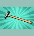 hammer working tool vector image