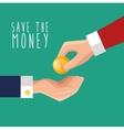 hand put money save icon design vector image