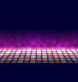 illuminated dance floor a background vector image
