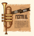 jazz musical festival flyer vector image