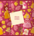 little princess girls in evening gowns set of vector image