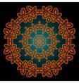 Mandala in outlines of ornage color Vintage vector image