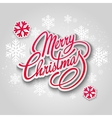 Merry Christmas greeting card Lettering Paper vector image vector image