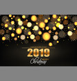 merry christmas shiny golden lights vector image
