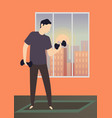 morning activity home training exercises and vector image vector image