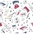 Music symbols Seamless pattern rock music vector image