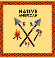 native american weapons tools icons set vector image vector image