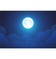 night with full moon - beautiful wallpaper vector image