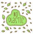 no plastic zero waste eco lifestyle vector image