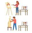 online art masterclass flat style design vector image vector image
