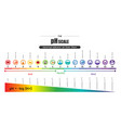 ph scale universal indicator ph color chart vector image vector image