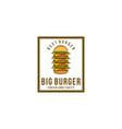 pile of burger burger logo vector image