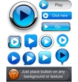 Play high-detailed modern buttons vector