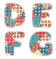 quilt alphabet vector image