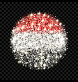 republic of yemen flag sparkling badge vector image