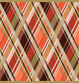 rhombic tartan seamless texture mainly in brown vector image vector image