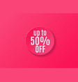 sale sticker round shape red color in realistic vector image