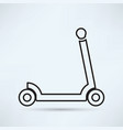 scooter for children icon vector image vector image